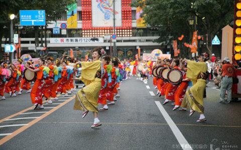 【盛岡市】世界一の太鼓パレード「盛岡さんさ踊り」