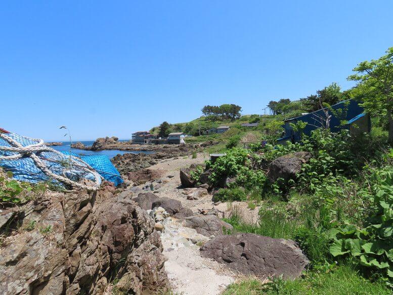 青森県八戸市 三陸ジオパーク みちのく潮風トレイル 海岸の風景