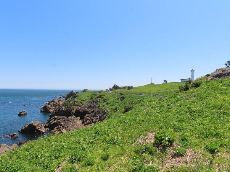 青森県八戸市 三陸ジオパーク みちのく潮風トレイル 鮫角灯台 葦毛崎展望台