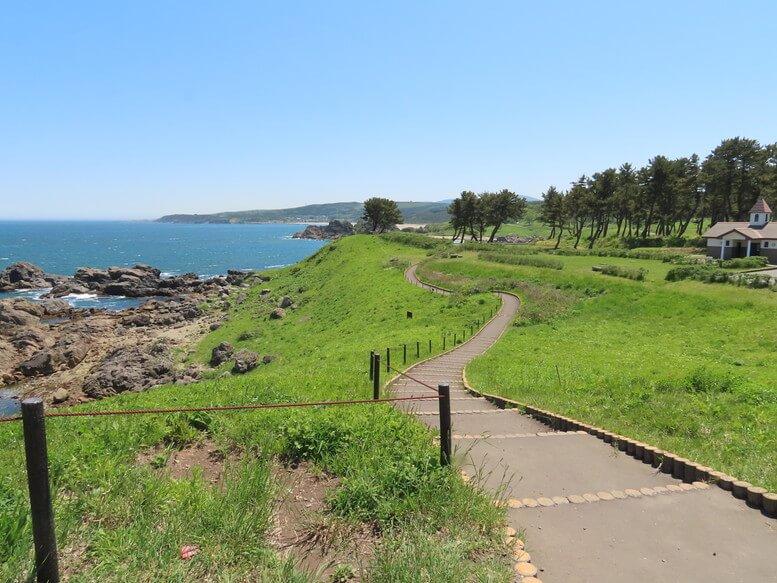 青森県八戸市 三陸ジオパーク みちのく潮風トレイル 葦毛崎展望台