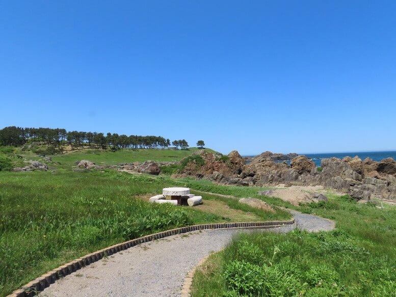 青森県八戸市 三陸ジオパーク みちのく潮風トレイル 遊歩道